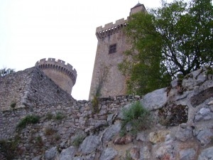 Foix chateau towers