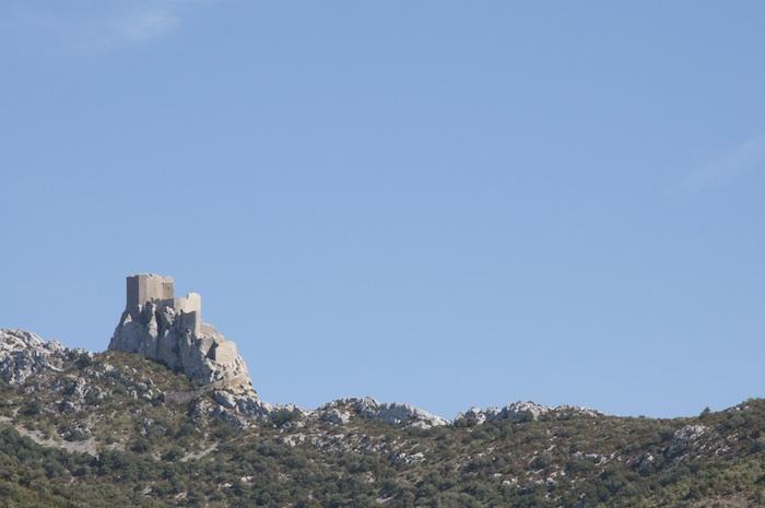 Chateau Queribus from Cucugnan