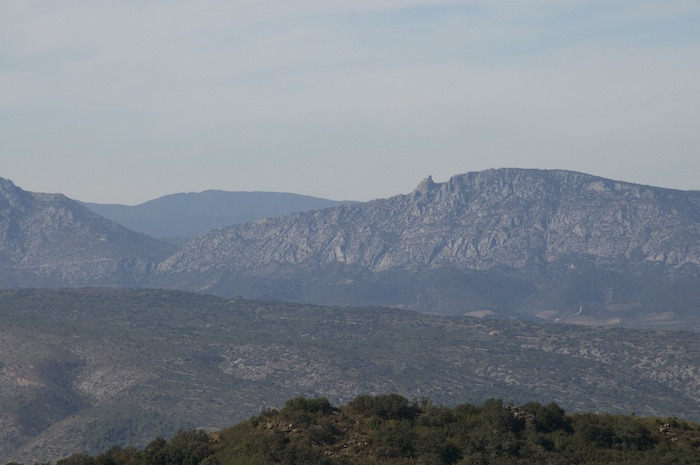 Chateau Queribus from across the Aude Valley (Forca real)