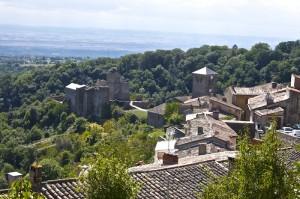 Chateau Saissac from the town of Saissac