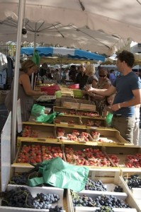 veg stand, marché