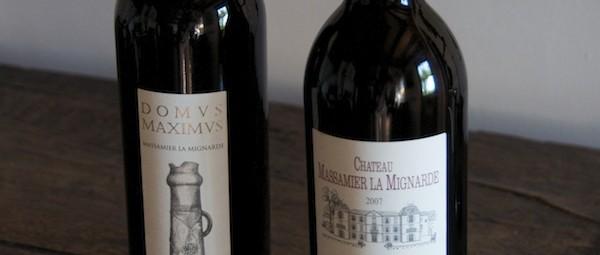 Cuvée Aubin and Domus maximus