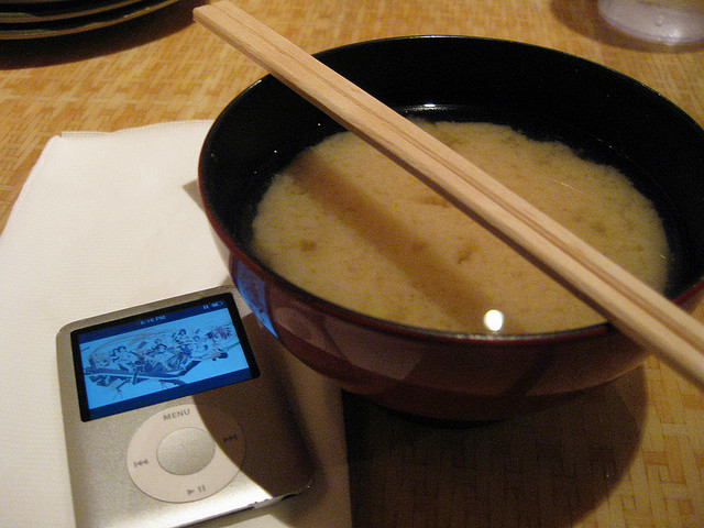 miso soup, by Michael Ocampo: www.facebook.com/coolmikeolntwk