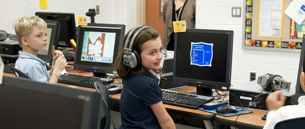 School kids in the 21st century, by Maryland GovPics