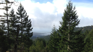 Sooke Harbour from Mt Manual Quimper