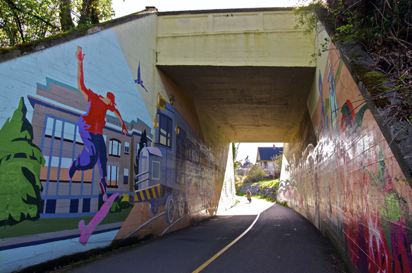 Mural art along the Galloping Goose trail. Photo by Alejandro Erickson