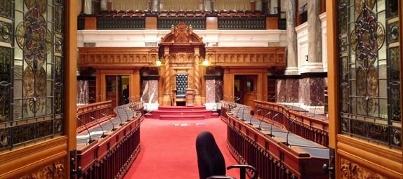 B.C. Legislature. Photo by Herb Neufeld (flickr's Oggie Dog)