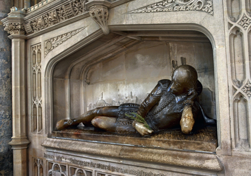 Shakespeare memorial at Southwark Cathedral, U.K. Photo © Duncan Harris.