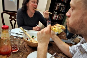 Eating and texting. Photo © Phil and Pam Gradwell (to be) (flickr)