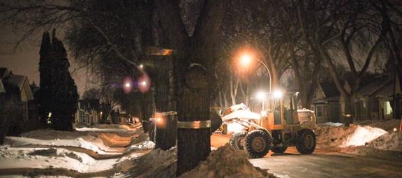 Ploughing snow in Winnipeg. Photo © AJ Batac