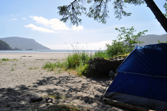 Camping at San Josef's Bay, Vancouver Island. Photo © Madeleine Holland, creative commons flickr