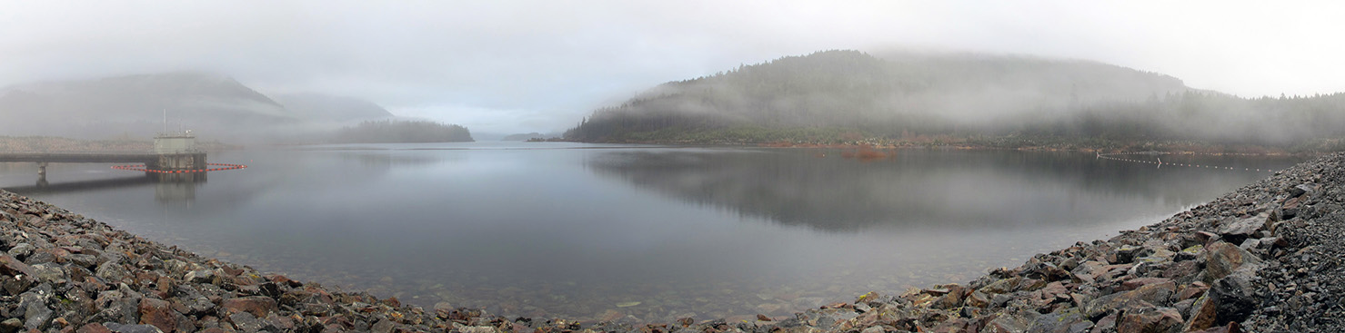 Sooke reservoir, March 5, 2014. Photo © Capital Regional District