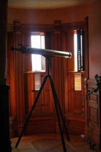 The brass telescope that early Canadian astronomer J.S. Plaskett used while at Ottawa's former Dominion Observatory, is part of the Centre of the Universe's collection in Victoria, B.C. The Centre closed to the public in 2013. Photo © Robin Zebrowski, via flickr & creative commons
