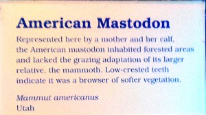 The Ice Ages Gallery: American Mastodon sign