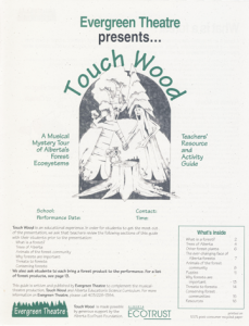 TouchWood teachers resource & activity guide cover