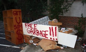 Free garbage. Photo © Ben Ostrowsky, via creative commons