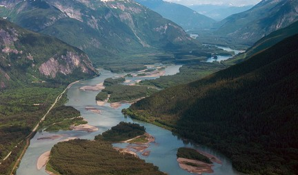 Spectacular Skeena River Valley. Photo © Sam Beebe, Ecotrust