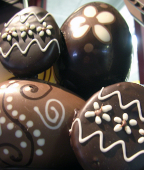 Chocolate eggs. Photo © Emily McCracken, via creative commons and flickr
