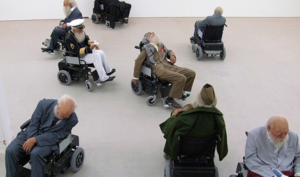 Old Person's Home, Saatchi Gallery, London. Photo © Jim Limwood, Creative Commons via flickr