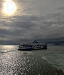 Ferry pulling out of Tsawwassen. Photo © Richard Eriksson, via flickr and Creative Commons; justagwailo.com