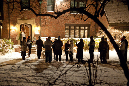 Carolling. Photo © Dwight Sipler, via flickr and creative commons