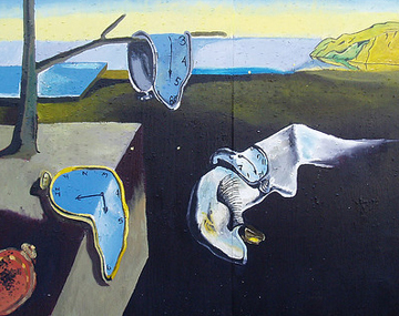street art-take on Dali's dream painting