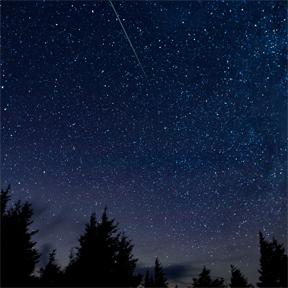 Meteor show. Photo © NASA