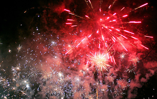 Fireworks. Photo © John Haslam, via flickr and Creative Commons