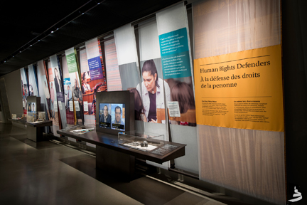 Human Rights Defenders Gallery, © Canadian Museum for Human Rights